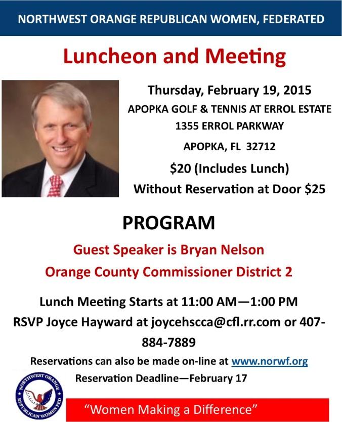 norwf meeting 19 Feb 15